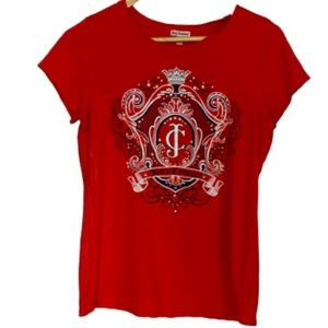 Red tee Juicy Couture L EUC